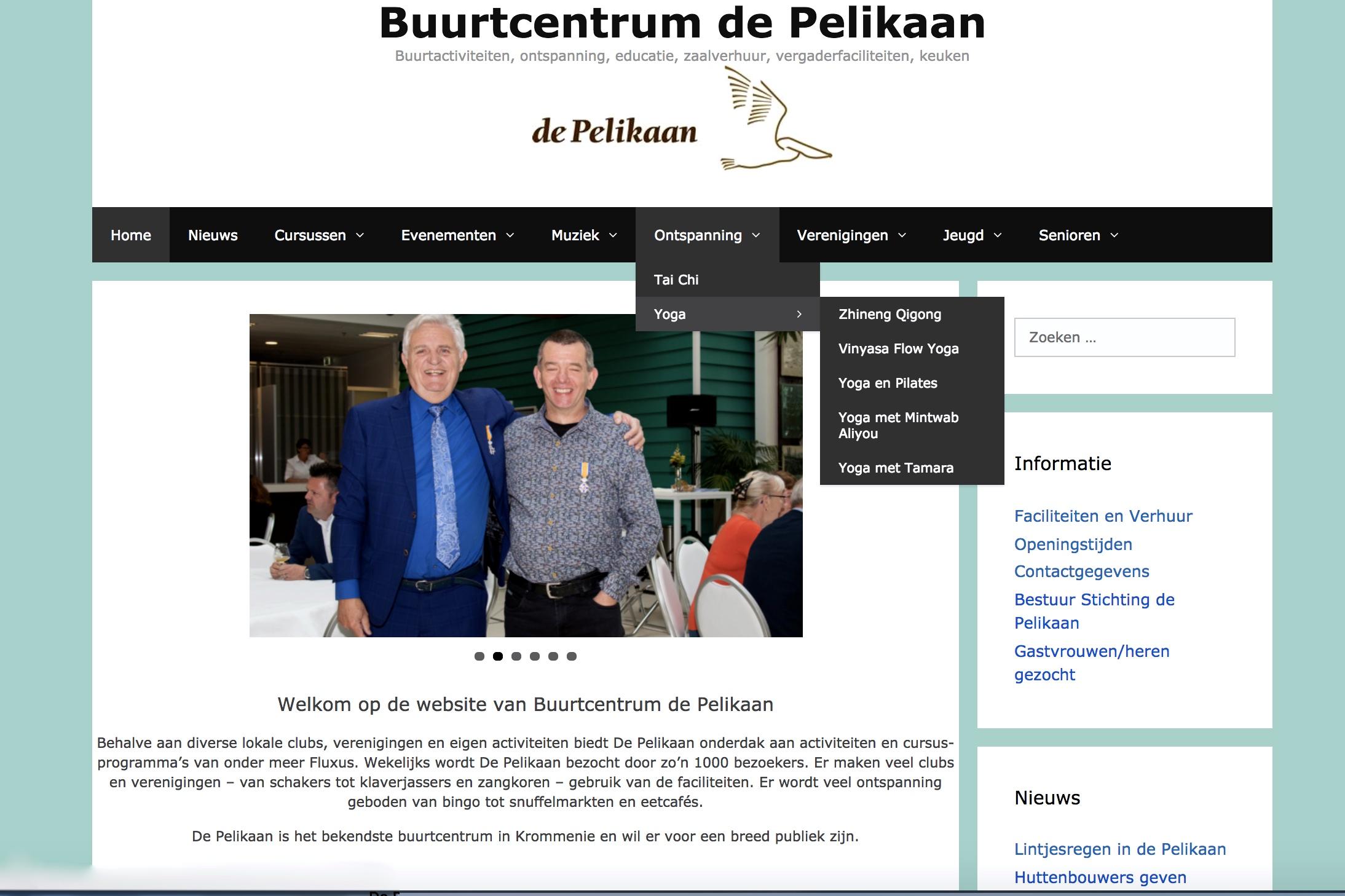 Nieuwe website voor de Pelikaan